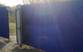 забор и калитка из профлиста